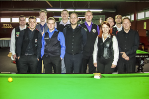 Foto: Teilnehmer des 5. Austrian Billiards League Turniers.