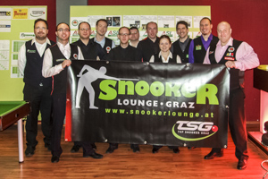Foto: Teilnehmer des 6. English Billiards Turniers in Graz